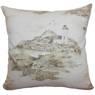 Zamiana Creme Toile Feature Filled 18-inch Throw Pillow