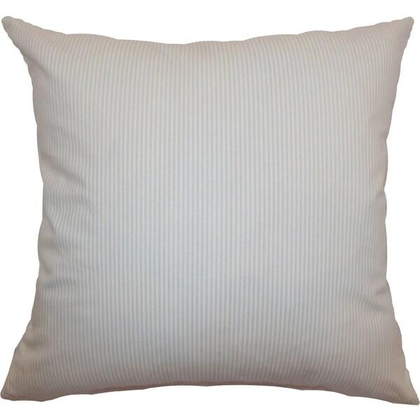 Quenilda Tan Ticking Feature Filled Throw Pillow