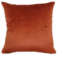 Juno Rust Solid Down Filled Throw Pillow