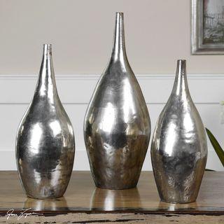 Uttermost Metal Rajata Vases (Set of 3)