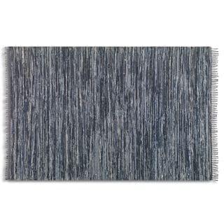 Uttermost Stockton Black Rescued Denim Rug (8' x 10')