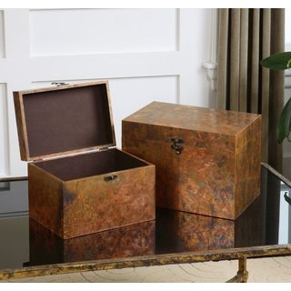 Uttermost Ambrosia Copper Decorative Boxes (Set of 2)