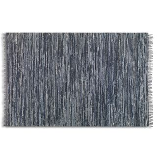 Uttermost Stockton Black Rescued Denim Rug (5' x 8')