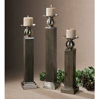 Uttermost Hestia Light Wood Candleholders (Set of 3)