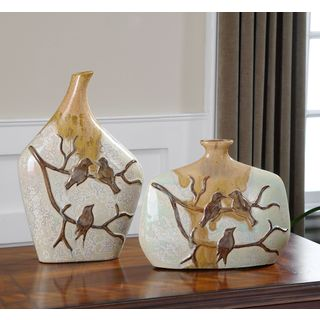 Uttermost Pajaro Ceramic Vases (Set of 2)