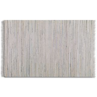 Uttermost Stockton White Rescued Denim Rug (5' x 8') - 5' x 8'