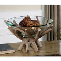 Uttermost Thoro Clear Glass Bowl