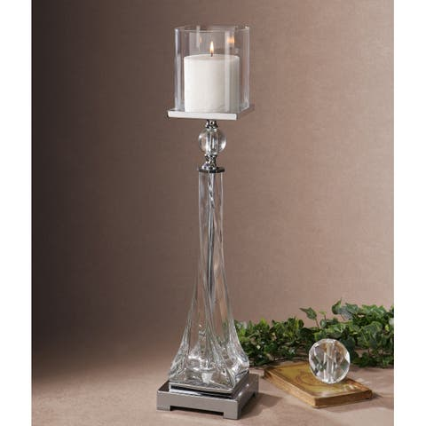 Uttermost Grancona Twisted Glass Candle Holder