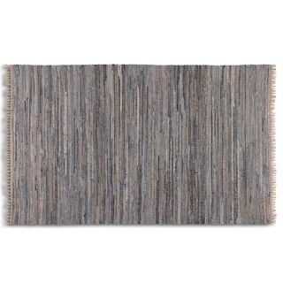 Uttermost Braymer Blue Rescued Denim Rug (5' x 8')