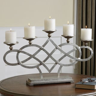 Uttermost Adala Silver Metal Candle Holder