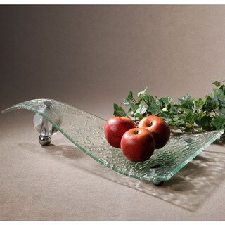 Uttermost Zorb Textured Glass Tray
