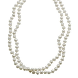 Pearls For You Sterling Silver Freshwater Pearl Necklace (6-6.5 mm)