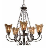 Uttermost Vetraio 5-Light Oil Rubbed Bronze Metal Chandelier