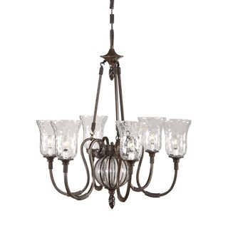 Uttermost Galeana 6-light Metal and Glass Chandelier
