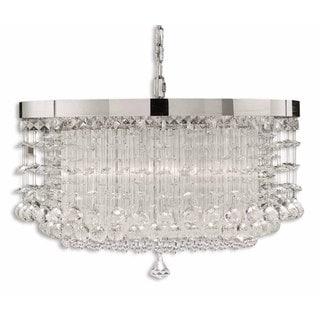 Uttermost Fascination 3-light Metal Glass Crystal Lighting Fixture Chandelier