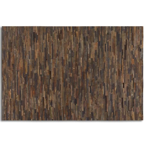 Uttermost Malone Suede Leather Rug (5' x 8') - 5' x 8' - 5' x 8'
