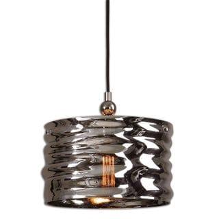 Uttermost Aragon 1-light Nickel/ Art Glass Pendant