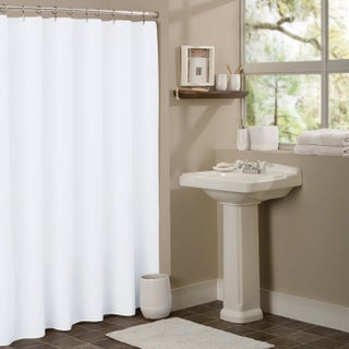 Anti-mildew Vinyl Shower Curtain Liner (Option: White)