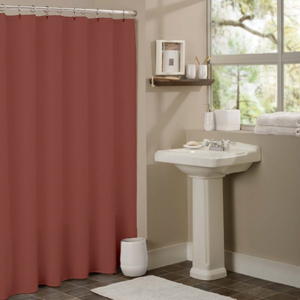 red and brown shower curtain. Anti mildew Vinyl Shower Curtain Liner  Free Shipping On Orders Over 45 Overstock com 16280670