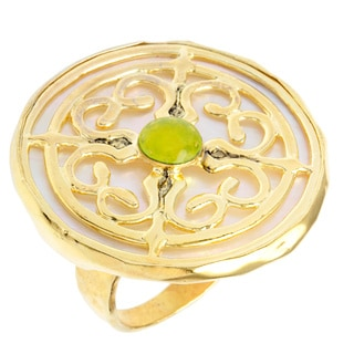 Brass Mother of Pearl Captiva Day Ring
