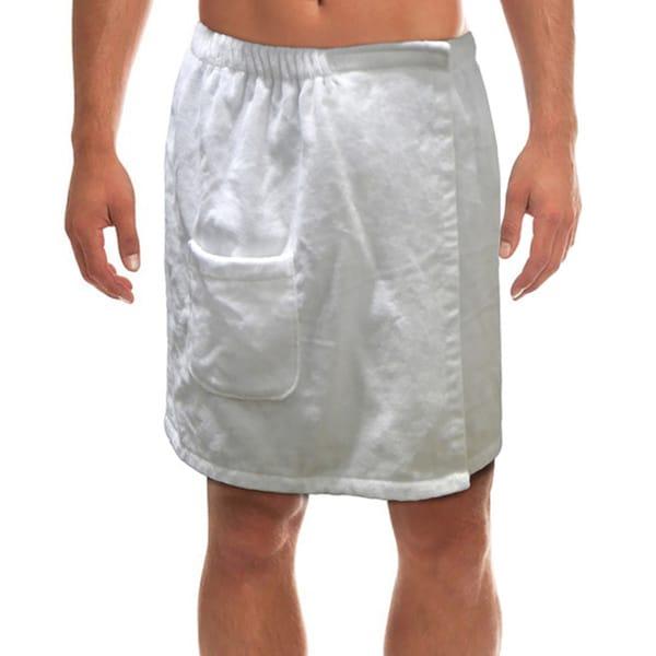 """Black Men/'s Long 30/"""" Terry Bath Shower Wrap 100/% Cotton"""