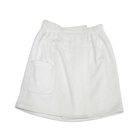 Men's Spa & Bath White Terry Cloth Towel Wrap
