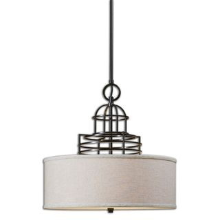 Uttermost Cupola 3-light Weathered Bronze Pendant