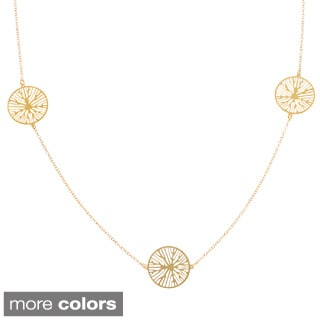 La Preciosa Sterling Silver or Goldplated Circle Station Necklace