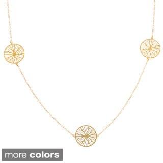 La Preciosa Sterling Silver or Goldplated Circle Station Necklace