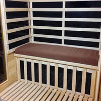 Radiant Brown Seat Cushion for 2-person Sauna