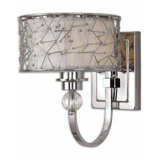 Uttermost Brandon 1-light Nickel Plated Wall Sconce