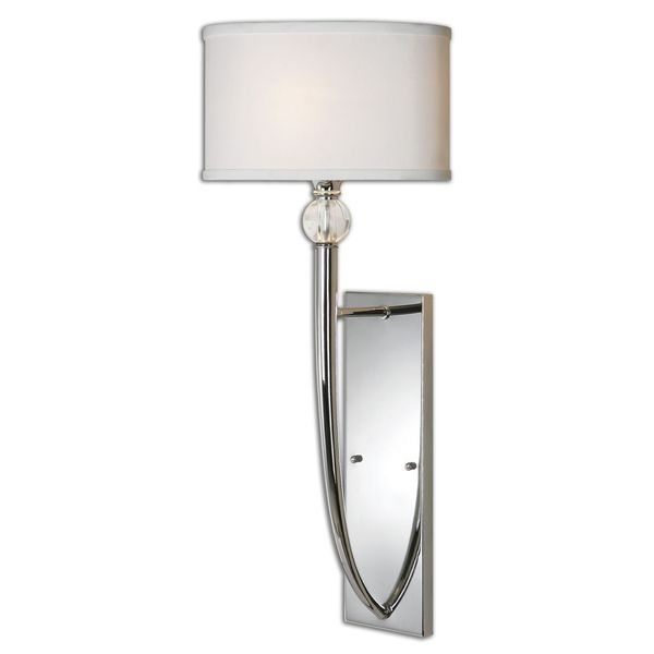 Uttermost Vanalen 1-light Polished Chrome Wall Sconce  sc 1 st  Overstock.com & Shop Uttermost Vanalen 1-light Polished Chrome Wall Sconce - Free ...