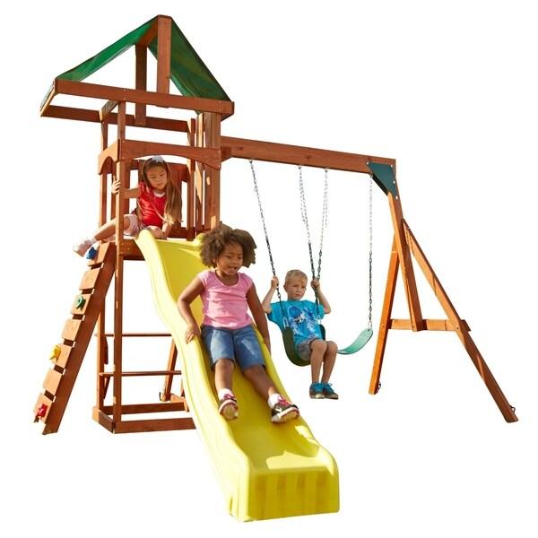 Shop Swing N Slide Scrambler Swing Set With 2 Belt Swings And Yellow