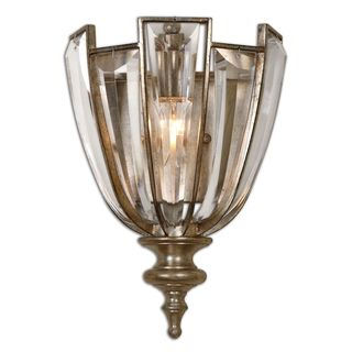 Uttermost Vicentina 1-Light Wall Sconce Metal Crystal Poly-Lighting Fixture