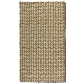 Uttermost Bengal Natural Houndstooth Print Jute Rug (8' x 10')