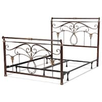 Gracewood Hollow Clavell Metal Bed in Marbled Russet Finish