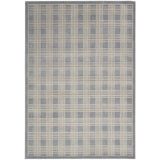 kathy ireland Hollywood Shimmer Americana Mission Craft Blue Area Rug by Nourison (9'3 x 12'9)