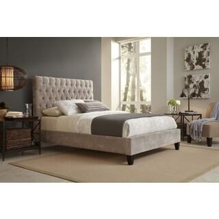 Reims Queen Size Beige Upholestered Bed