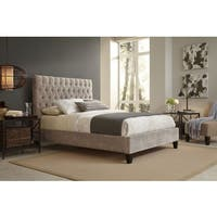 Reims Queen Size Beige Upholstered Bed