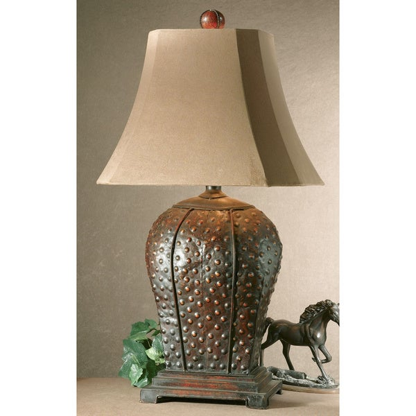 Uttermost Valdemar Mahogany Metal Table Lamp