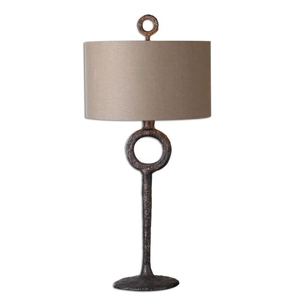 Uttermost Ferro Antiqued Cast Iron Table Lamp