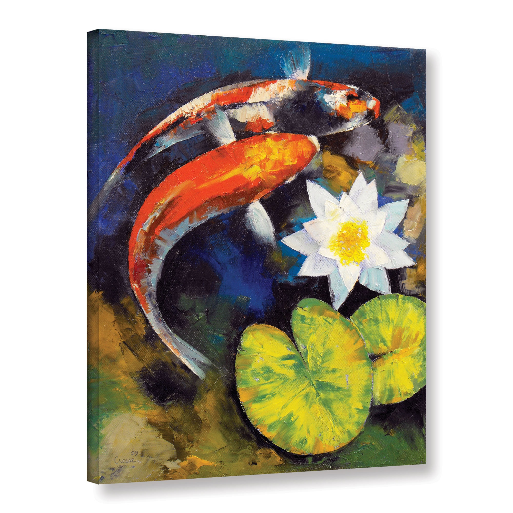 Shop Michael Creese Koi Fish And Water Lily Gallery Wrapped Canvas Overstock 9092150