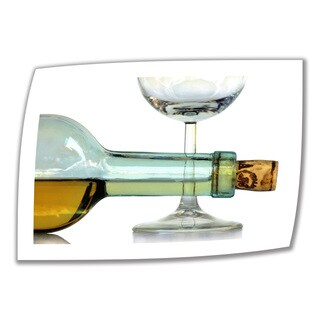 Dan Holm 'Bottle Plus Glass' Unwrapped Canvas - Multi