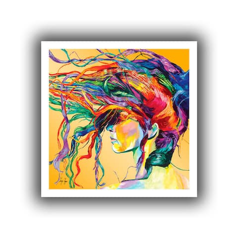 Linzi Lynn 'Windswept' Unwrapped Canvas - Multi-Color