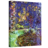 Claude Monet 'Bridge at Sea Rose Pond' Gallery-Wrapped Canvas