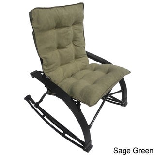 International Caravan Folding Indoor/ Outdoor Rocker with Removable Microsuede Pad and Carry Bag (Option: Sage)