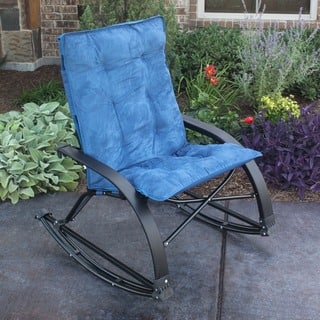 International Caravan Folding Indoor Outdoor Rocker With Removable Microsuede Pad And Carry Bag