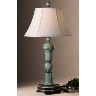 Uttermost Attilio Antiqued BlueTable Lamp