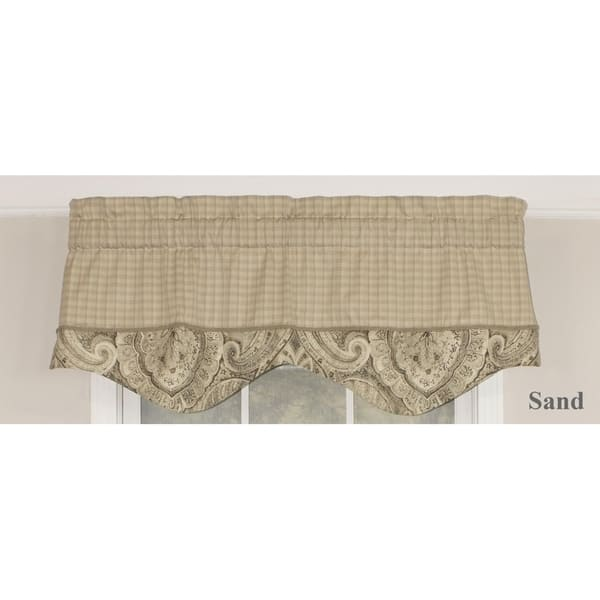 Rlf Home Sedona Blouson 50 Window Valance On Sale Overstock 9092277 Sand