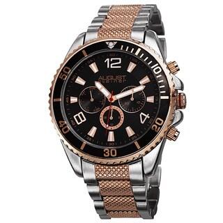 August Steiner Men's Swiss Quartz Multifunction Two-Tone Bracelet Watch